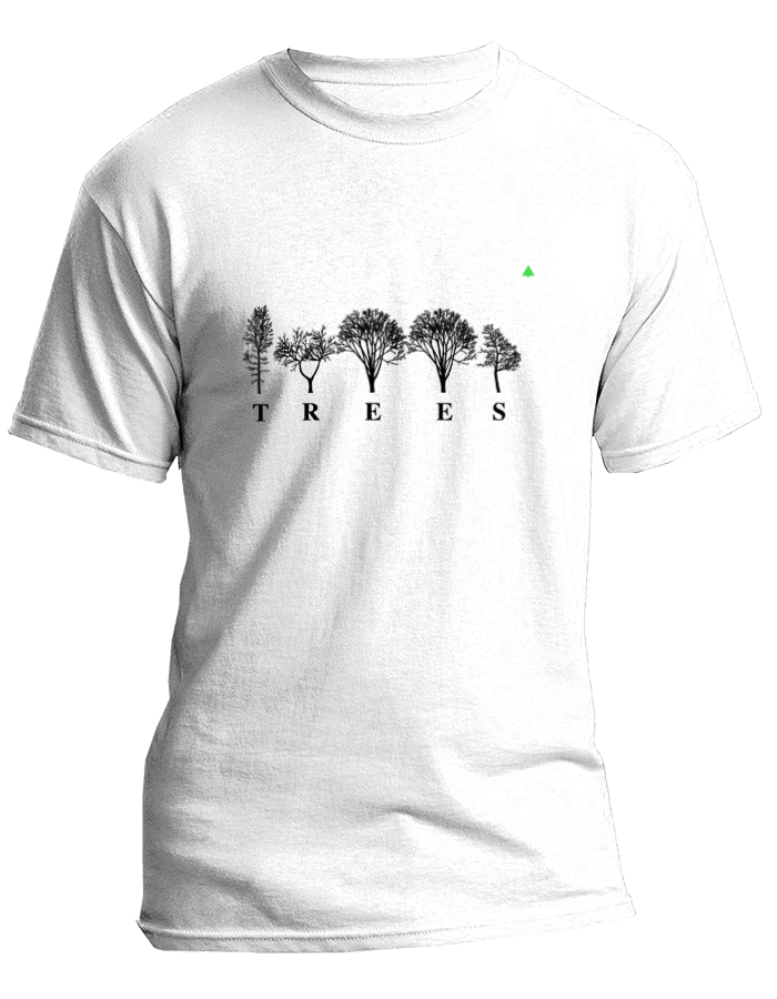 TREES lettering tshirt featuring NYC Tree Alphabet by Katie Holten